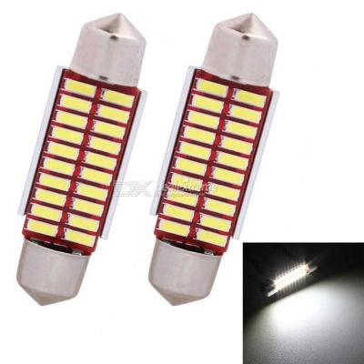 MZ Festoon 39mm 20-LED 2W Car Canbus Reading Lamp Cold White (2PCS)