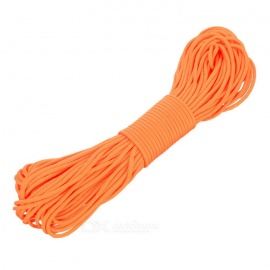 Outdoor Nylon Tactical Military Parachute Cord Paracord - Orange (30m)