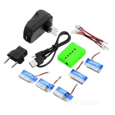 JJRC 150mAh Batteries + 1-to-5 Charger + Adapter + Converting Cable