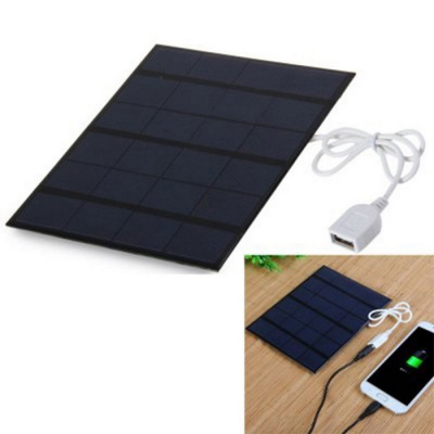 Solar Power Cell Phone Charger Mobile Power Bank - Dark Blue