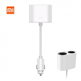 Original Xiaomi ROIDMI Car Dual Cigarette Lighter Splitter - White