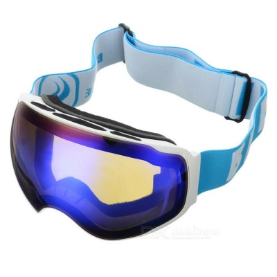 BE NICE SNOW4200 Anti-Fog Spherical Lens Skiing Goggles - White