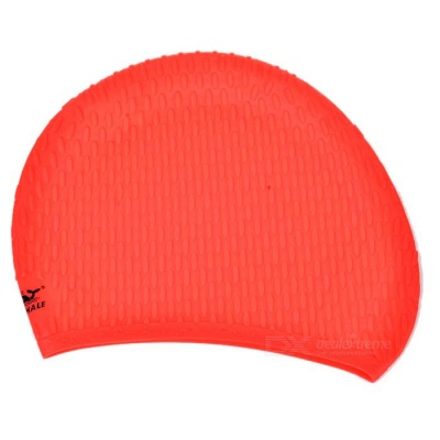 Unisex Water Drop Particles Swimming Hat - Red