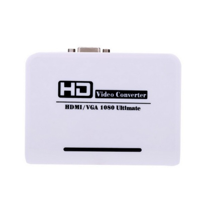 HDMI VGA Audio HD HDTV Video / Audio Converter Adapter - White