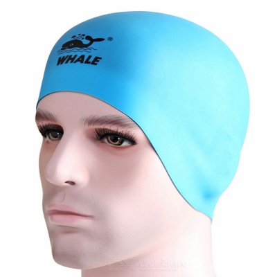SPRING SWHALE Double Side Wearable Swimming Cap - Blue + Black