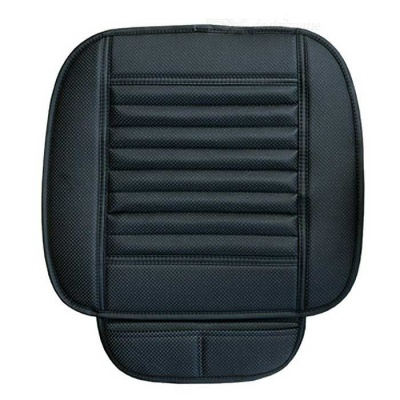 Wearproof PU + Bamboo Charcoal Car Seat Cushion - Black