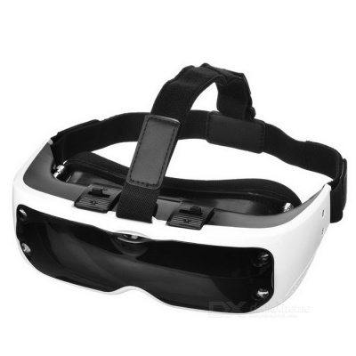 Fashionable Virtual Reality 3D Glasses - White + Black