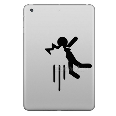 Hat-Prince Hitting Pattern Removable Skin Sticker for IPAD - Black