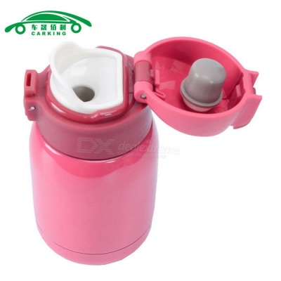 CARKING Vacuum Insulated Thermos Water Bottle - Dark Pink (180ml)