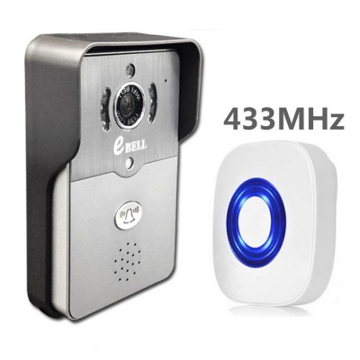 eBELL 720P Wi-Fi Video Door Phone Mobile Unlock w/ Chime - Grey
