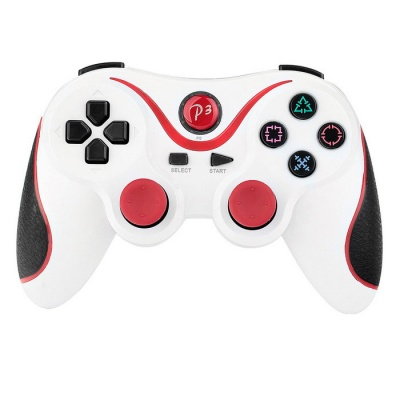 Wireless Bluetooth V3.0 Game Console Controller Sony PS3 - White + Red