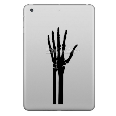 Hat-Prince Patterned Removable Skin Sticker for IPAD - White + Black