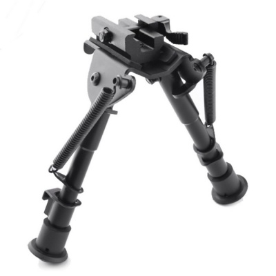 "ACCU Tactical OP Bipod QD Pica-tinny Mount - Black (Height 6"" to 9"")"