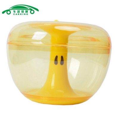 Apple Shaped Cookie Candy Jar Storage Box Container Can - Yellow