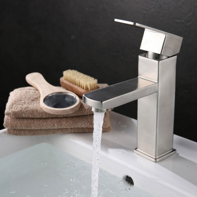 High Quality Fashion 304 Stainless Steel Sink Faucet - Silver