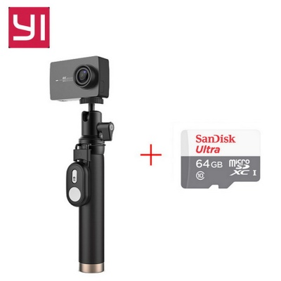 "Original Xiaomi Yi II Wi-Fi 4K 2.19"" Sports Camera+ 64GB TF CN Version"