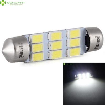 Festoon 42mm 4.5W 220LM Cold White 9-SMD 5730 LED Car Lamp (12V /2PCS)
