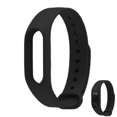 Replacement TPU Wrist Band for Xiaomi MI Band 2 - Black