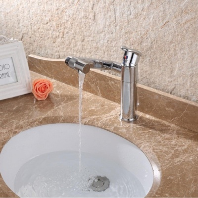 Contemporary Personalise 360° Rotatable Brass Faucet - Silver
