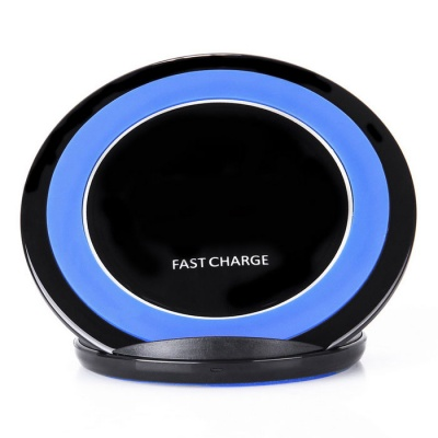 Qi Standard Charger Support Fast Charge - Black