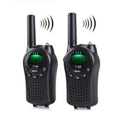 Outdoor Travel Entertainment 5km Range Intercoms - Black (2 PCS)
