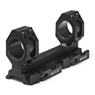 Tactical 25mm/30mm Dual Ring Cantilever Heavy Duty Scope Mount - Black