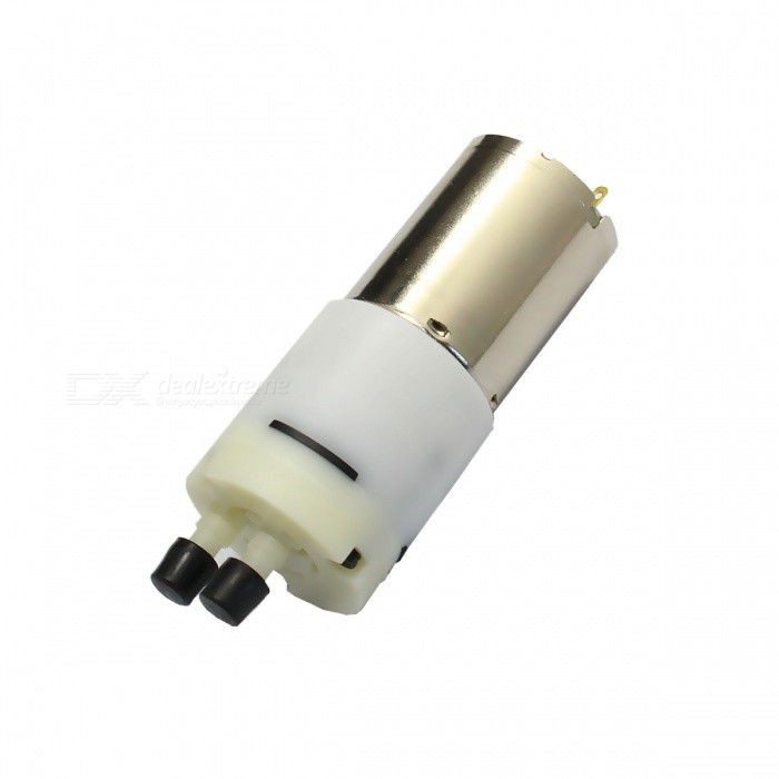 370 Motor Micro USB Silent Water Pump - White + Silver