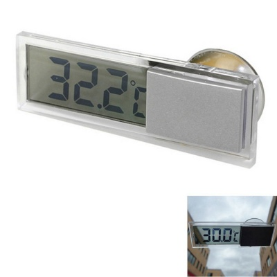 ZIQIAO Digital LCD Display Car Electronic Thermometer - Black