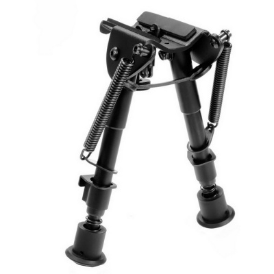 "Tactical 6"" to 9"" Hunting Rifle Bipod Spring Return Sniper Sling Mount"