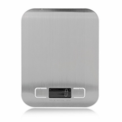 """BLCR Ultra-Thin 1.7"""" LCD Digital Kitchen Scale - Silver(5Kg/1g, 2*AAA)"""