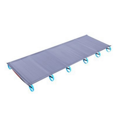 Outdoor Lightweight Aluminum Alloy Single Bed Camp Bed - Grey