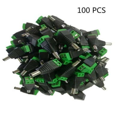 DC Male Head Welding-Free Power Adapter Plugs (100 PCS)