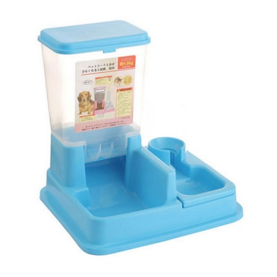 Automatically Food Water Feeder for Pet Dog / Cat - Blue