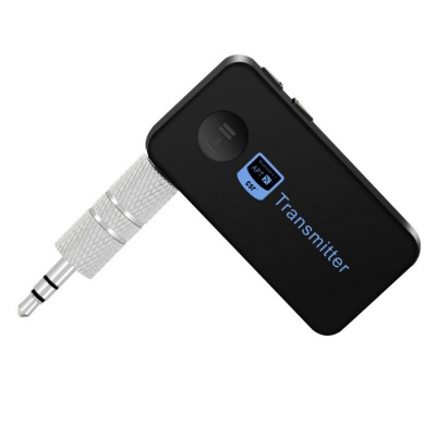 Bluetooth Music Audio Stereo Transmitter w/ 3.5mm Audio Output - Black