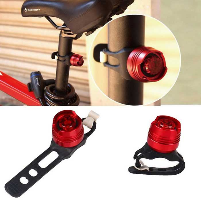 YouOKLight LED Waterproof Bike Warning Safety Caution Red Light