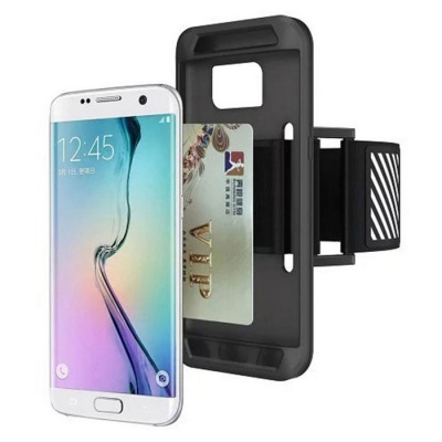 Easy Fitting Sport Running Armband Case For Samsung Galaxy S7 - Black