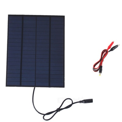 SUNWALK 5.5W 18V Monocrystalline Silicon Solar Charger+Alligator Clips