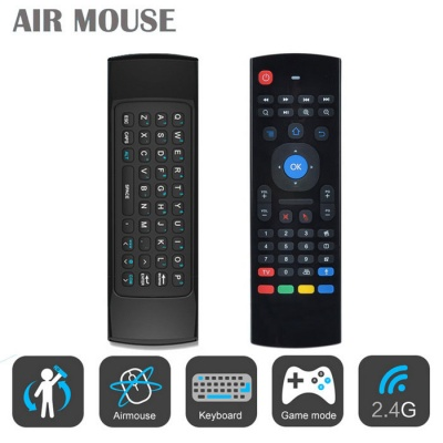 MX3 2.4GHz Double Keyboard Wireless Air Mouse w/ Remote Control