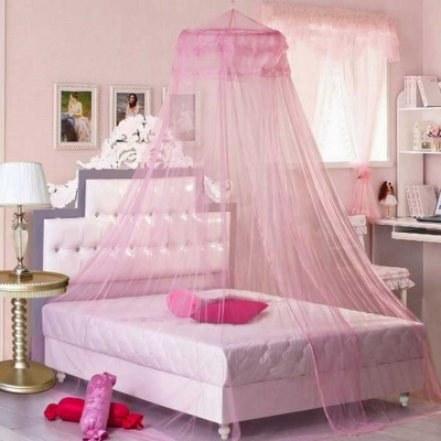 Dome Ceiling Mosquito Net / Bed Curtain - Pink