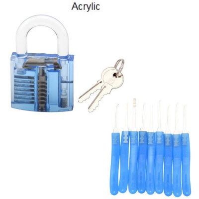 Translucent Acrylic Fine Locksmith Tool Set - Blue