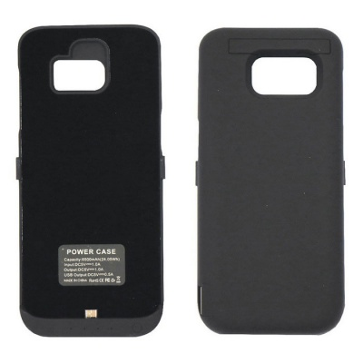 """6500mAh"" Emergency Battery Back Case for Samsung S7 Edge - Black"