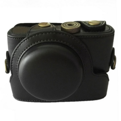 PU Leather Camera Case Bag for Sony RX100 II III Camera - Black