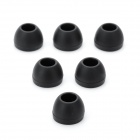 Silicone Ear Buds for In-Ear Earphones - Black (6PCS / Size M)