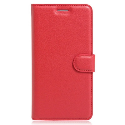 Lichee Pattern Protective Case for Doogee F5 - Red