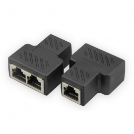 CAT.6 Ethernet Connector 1 to 2 Cable In-line Shielded RJ45 Coupler