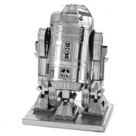 DIY 3D Puzzle Model Assembled Educational Toy Metal  - Silver