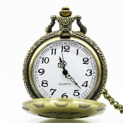 Retro Personality 111 Pattern Large Pocket Watch Necklace