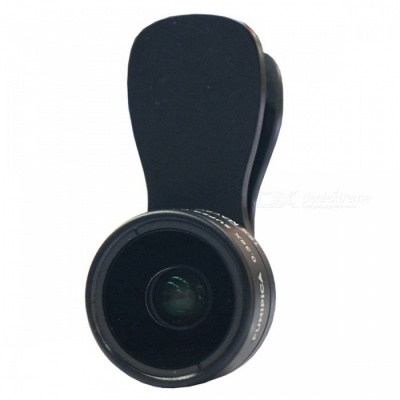 0.36X Wide Angle + 15X Macro Lens for Cell Phones, Tablets - Black