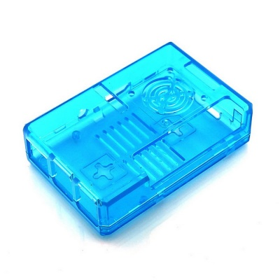 ABS Enclosure Case for Raspberry Pi 3B / 2B / B+ with Fan Hole - Blue
