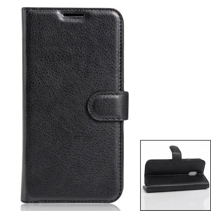 Flip-up PU Leather Wallet Cases w/ Card Slots for Redmi Note 4 - Black